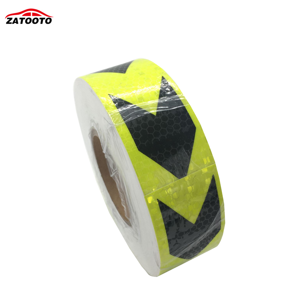 50m Roll Fluorescent Green With Arrows Safety Warning Tape Caution Reflective