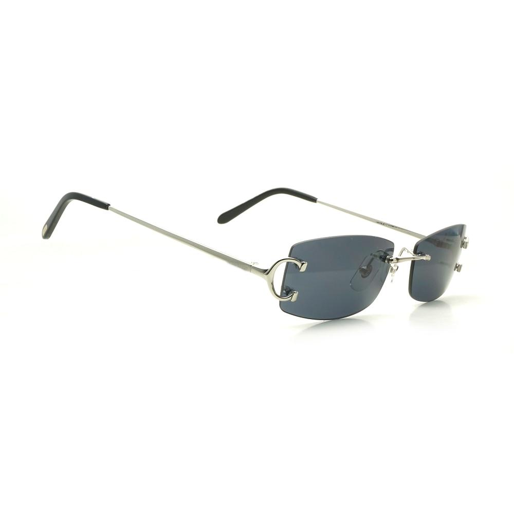 Square Sunglasses Men Carter Glasses Frame Rimless Sunglasses Women Fashion Designer Square Glasses for Men Christmas