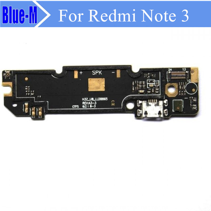 1piece Dock Connector Micro USB Charging Port Flex Cable Ribbon Module + Mic Replacement Parts For xiaomi redmi Note 3 note3