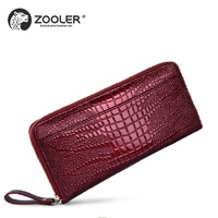 Hottest genuine leather wallet long designed 2019 stylish WOMEN purse small wallet day clutches pattern coin purses #8903