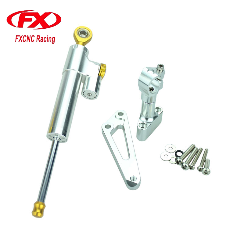 For HONDA CB 600F HORNET 2007-2016 Aluminum Motorcycle CNC Adjustable Steering Damper Stabilizer Mounting Bracket Support Kits  fxcnc aluminum steering damper stabilizer bracket mounting support kits fit for honda cbr600 f4i 1999 2004