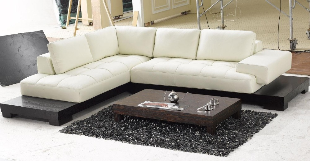 Top Graded Italian Genuine Leather Sofa Sectional Living Room Sofa Home  Furniture Big Size With Wooden