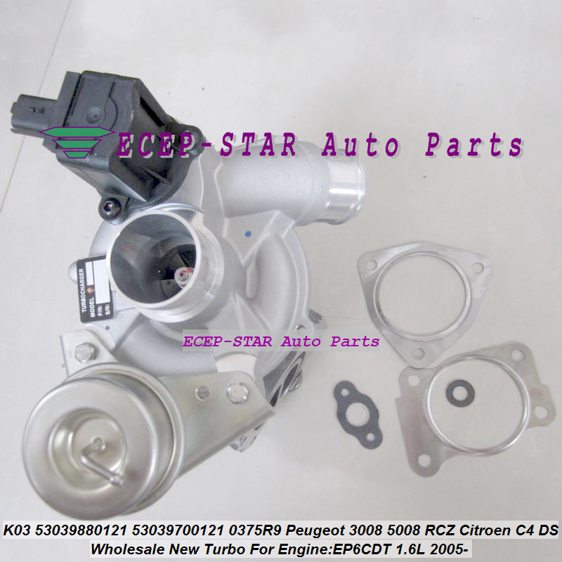 цена на Free Ship K03 53039880120 53039880104 53039700120 53039700104 Turbo Turbocharger For Peugeot 207 308 3008 5008 RC C4 EP6CDT 1.6L