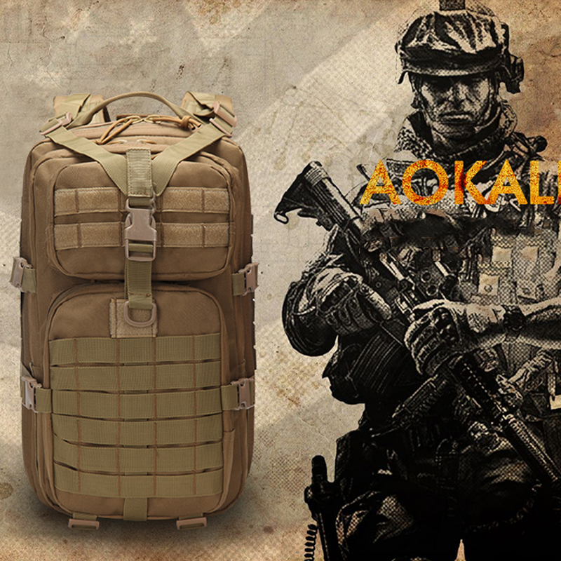 Military Tactical Backpack Large Army 3 Day Assault Pack Waterproof Molle Bug Out Bag Rucksacks Outdoor Hiking Camping Hunting 1