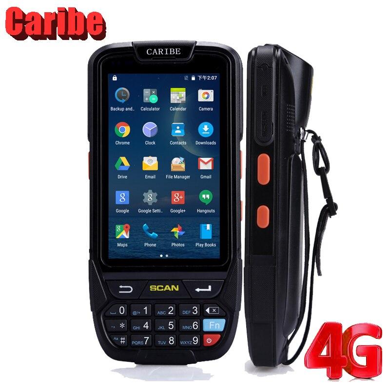 Caribe PL-40L Прочный портативный КПК 1D сканер штрих-кода Android планшет IP65 водонепроницаемый мобильный телефон