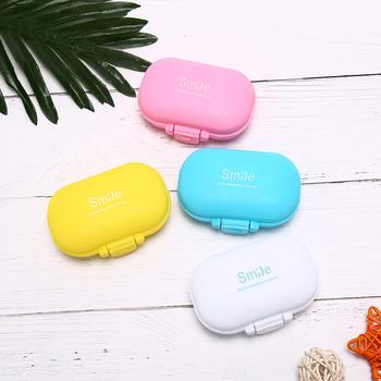 Travel Home leki medyczne Tablet pusty pojemnik przenośny Mini Pill Case pudełka na leki 4 siatki do przechowywania w domu tanie i dobre opinie KuZHEN Przypadki i rozgałęźniki pigułka Plastic