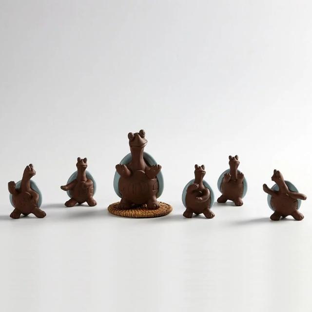 Sammlung Keramik Schildkröte Figuren Für Wohnzimmer Schrank Dekoration Set  Von 6