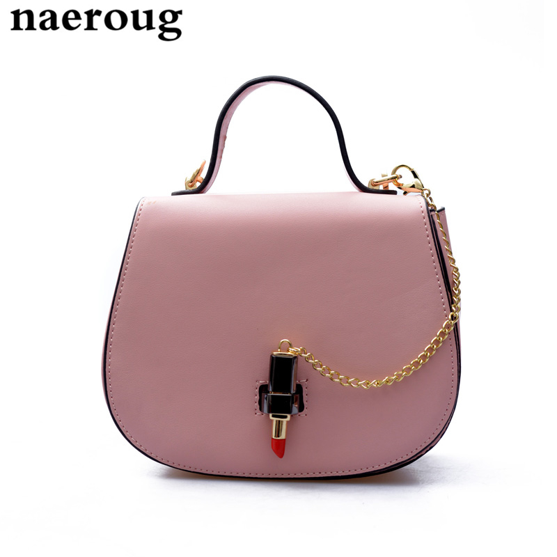 ФОТО Saddle Shape Women Messenger Bags Famous Brand Shoulder Bags with Chain Fashion Designer Lipstick Lock Cross Body Bags for Women