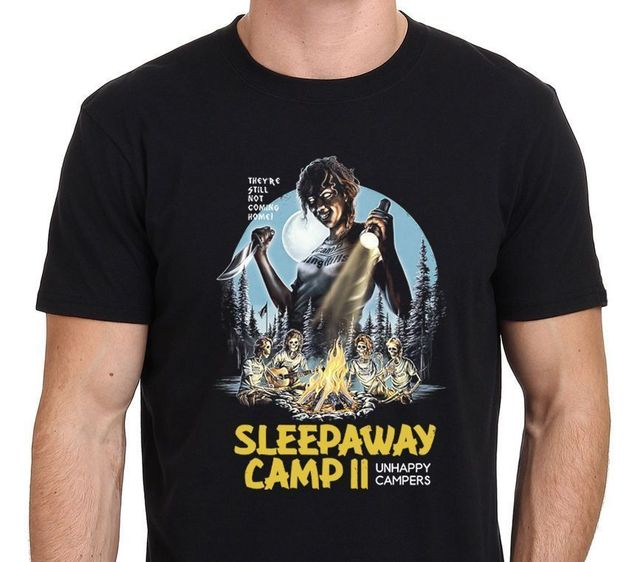 528980677cf Sleepaway Camp 1983 Horror Classic Cover Art T-Shirt Print T Shirt Men  Summer Style Short Sleeves 100% Cotton