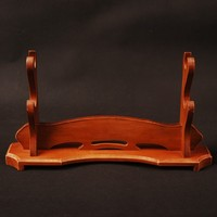 High Quality Wood Craft Two layer Sword Stand Holder Rack Display Japanese Samurai Sword New Arrival Exquisite Fitting SDJ13B