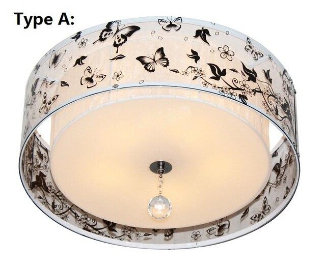 Moderne vlinder k9 kristal plafond verlichting acryl lampenkap ...