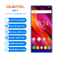 OUKITEL MIX 2 4G Smartphone 5.9'' 18:9 Full Screen Android 7.0 Helio P25 MTK6757 6GB RAM 64GB ROM 21MP+13MP 4080mAh Mobile Phone