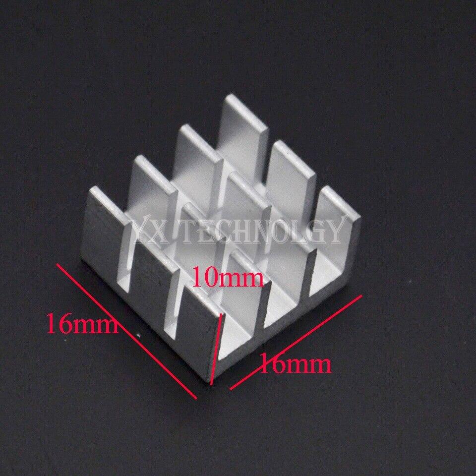5pcs Heat sink 16*16*10MM (silver slot) high-quality radiator