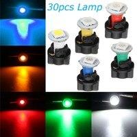 30 cái/lốc 12 V T5 Xe Xe Máy Giải Phóng Mặt Bằng Lamp 5050 SMD LED Instrument Bảng Điều Chỉnh Dashboard Light Bulb Blue White Red màu xanh lá cây Vàng