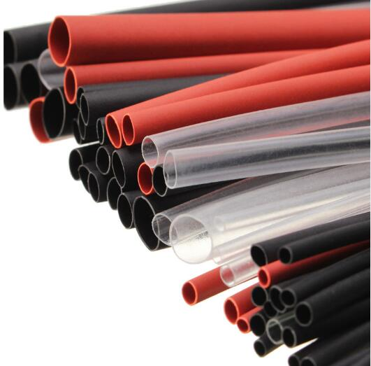 55Pcs 200mm Black 2:1 Halogen-Free Heat Shrink Tube Tubing Sleeving Wrap Wire Cable Kit 1.0mm 1.5mm 2.5mm 3.0mm 5.0mm