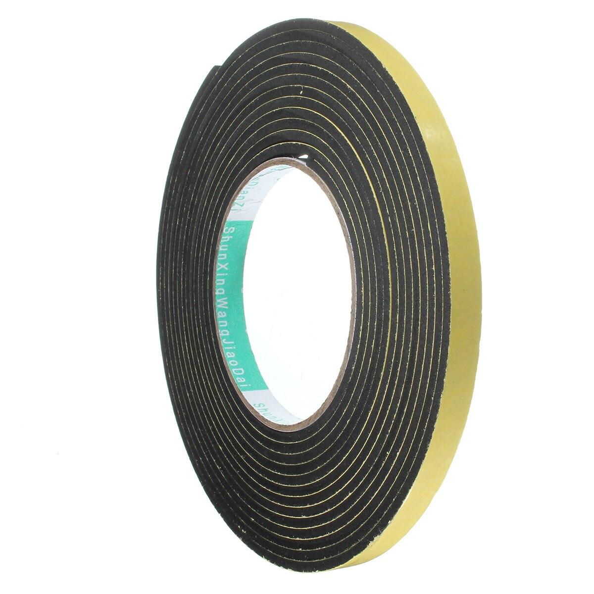 15mm x 3M Weather Sticky Sponge Rubber Foam Stripping Strip Single Sided Tape !