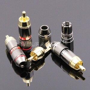 Image 2 - 4 יחידות מפלצת CRBLE 24 K מצופה זהב RCA Plug/אודיו מחבר/תקע לוטוס/AV מסוף וידאו