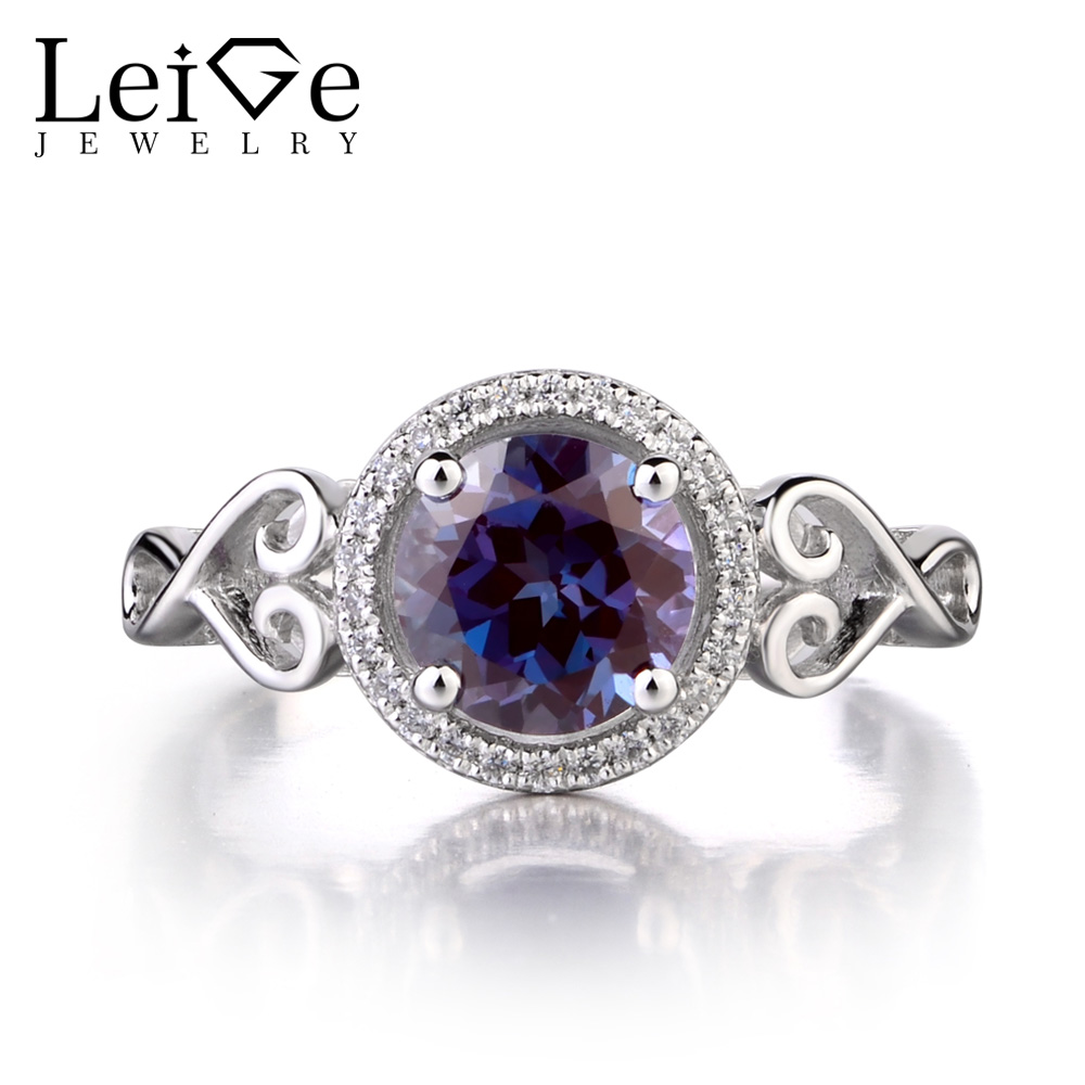 changing birthstone engagement cushion cut sterling rings ring leige in silver june jewelry gemstone lab alexandrite from item real color