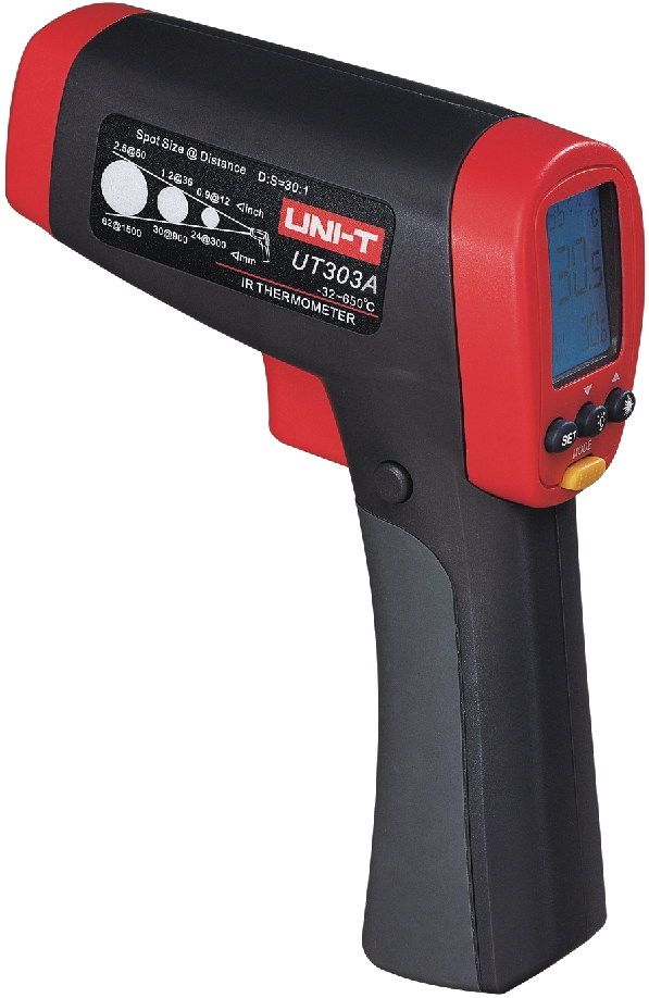 UNI-T UT303A UT303C UT303D Handheld Non-Contact IR Infrared Laser Digital Thermometer Temperature Gun Tester High Accuracy mastech ms6530a d s 12 1 non contact infrared thermometer ir temperature gun with laser pointer tester 20c 850c