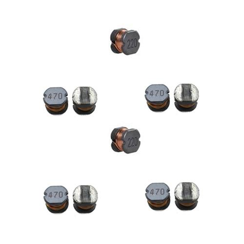 100 Pcs SMD 5.8*5.2*4.5mm 1/1. 5/2. 2/3. 3/4. 7/6. 8/10/15/22/33/47/68/100/220/330/ 470uH Chip Choke Bobinas de Fio Ferida Indutor De Energia