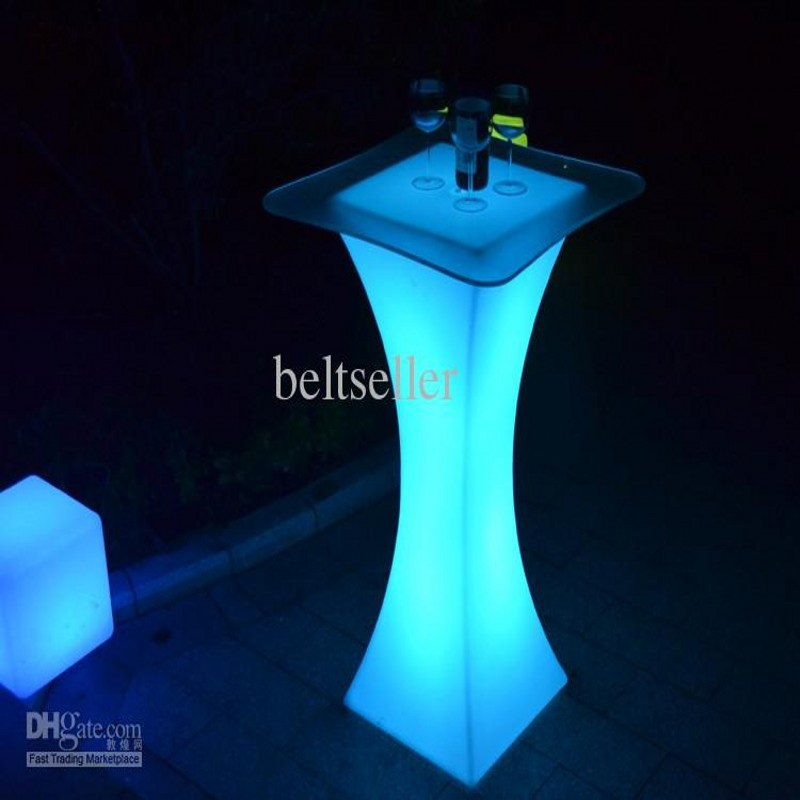 Rechargeable led illuminated cocktail table waterproof glowing led rechargeable led illuminated cocktail table waterproof glowing led bar table lighted up coffee table bar ktv disco party supply in bar tables from aloadofball Gallery