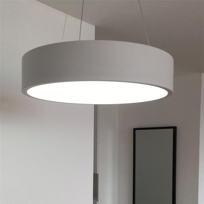 Nordic Led круг акриловые подвесной светильник для столовой Гостиная кольца блеск кулон круглый подвесной светильник дома светильники