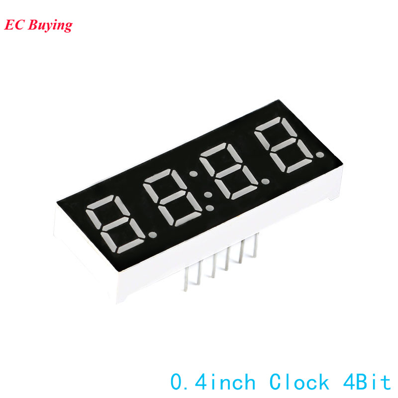 5Pcs 0.4 Inch 7 Segment LED 4 Bit Red Digital Tube Common Cathode Segment Display Clock Electronic DIY