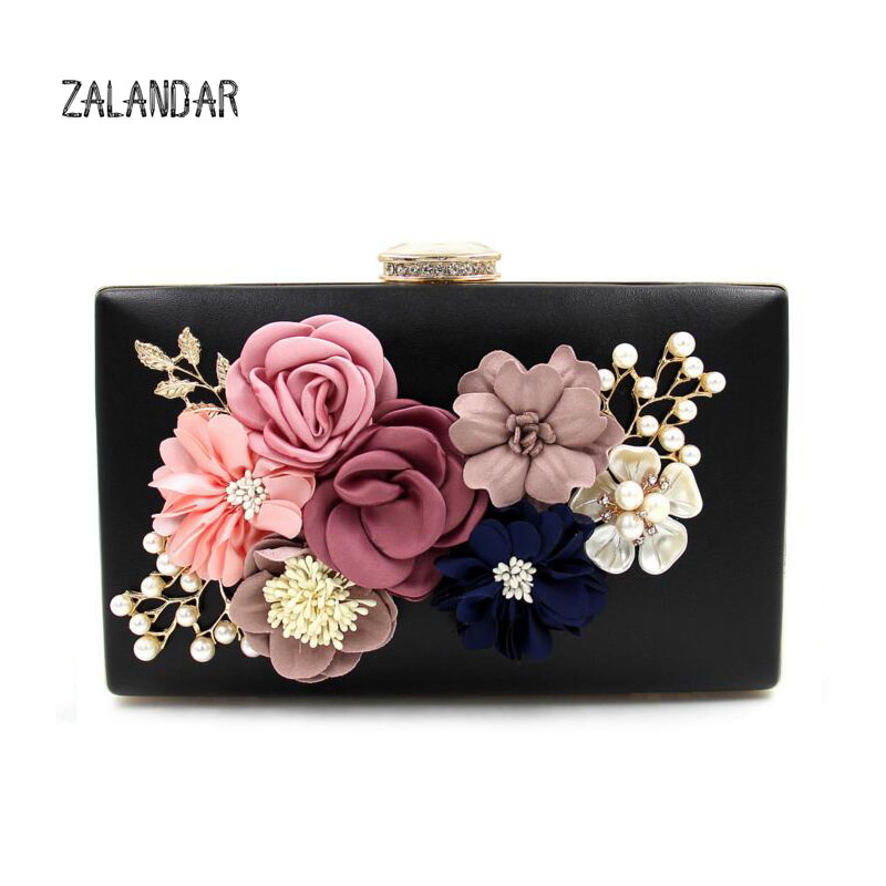 ZALANDAR Women Evening Bag Clutch Bag Lady Flower Day Clutches Female Wedding Bags