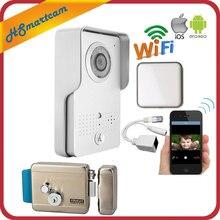 Открытый Беспроводной Wi-Fi IP Дверные звонки Камера для Android IOS телефон удаленного просмотра разблокировать Видеодомофоны + indoor Ringer + Электрический замок