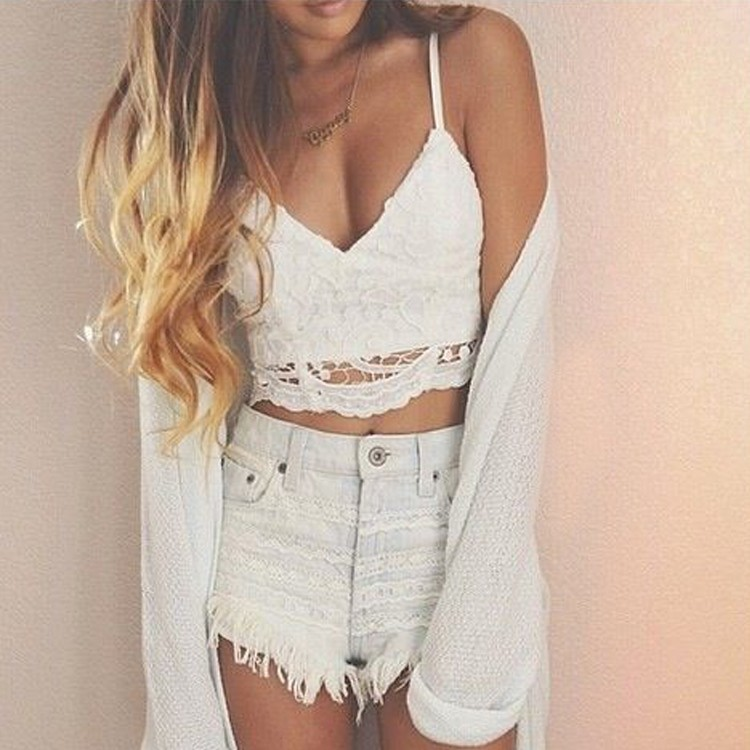 Summer Style Vest Camisole Camis Sexy Women's Halter Backless Bandage Clubwear Party Bustier Crop Tops White for Gifts