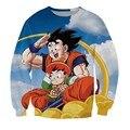 Nova Moda Dos Homens/Mulheres De Dragon Ball Z Goku e Gohan Engraçado Camisola Hoodies S M L XL XXL 3XL 4XL 5XL