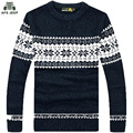 free shipping AFS JEEP brand  mens spring and autumn wear o neck sweaters with snow flower print 88