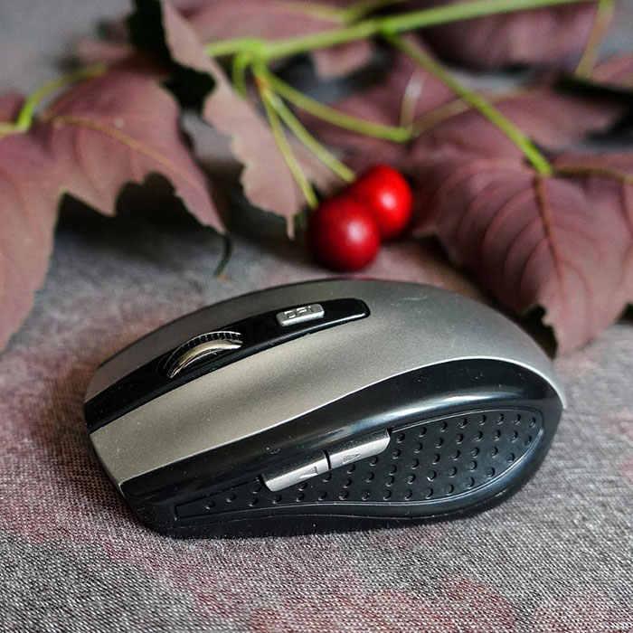 調整可能な1600 dpiマウスsem fioポータブル2.4 ghzワイヤレス光学式ゲーミングマウスゲーマーマウス用pcラップトップコンピュータプロゲーマー