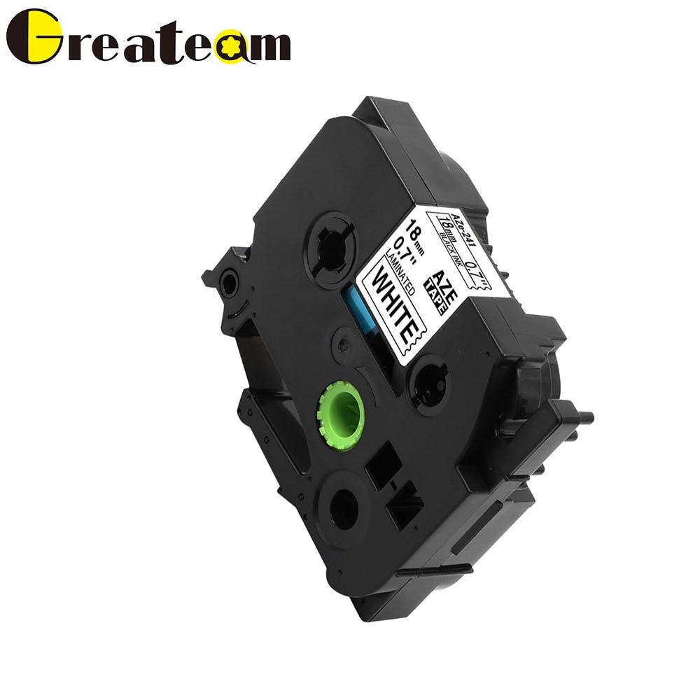 255a2d50c89 Greateam 1pcs TZe241 TZ 241 TZe-241 Compatible Brother P-Touch Black on  White