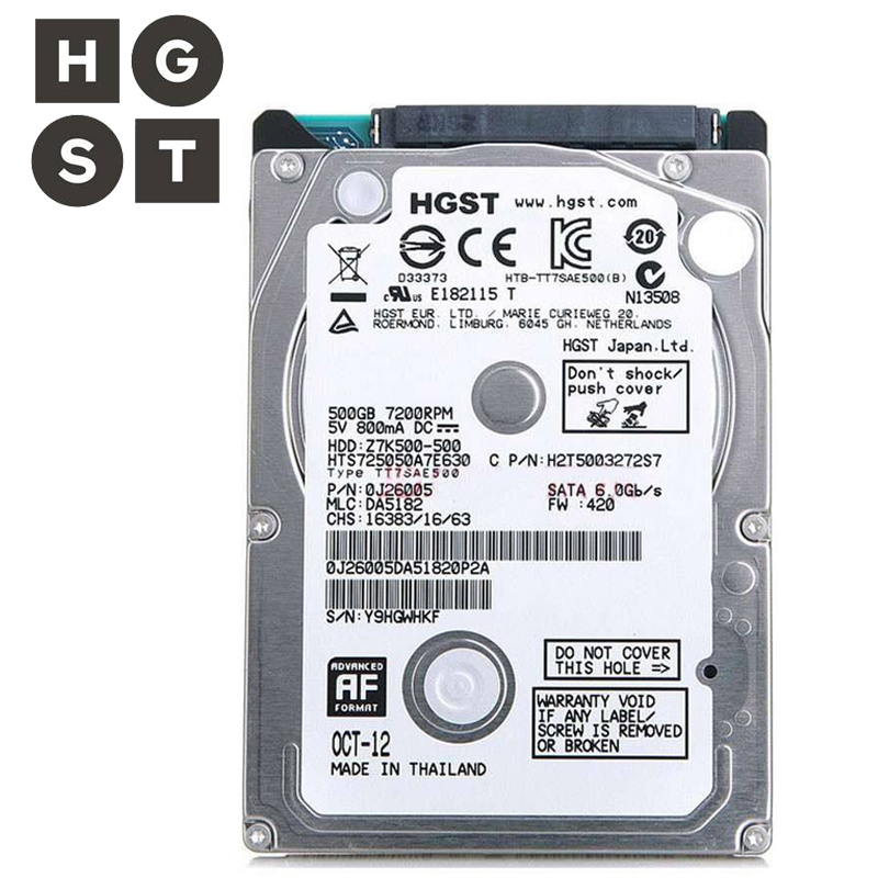 "HGST Brand SATA2-SATA3 2.5"" 500GB Laptop Internal hdd hard disk drives For Notebook 8mb/32mb 5400RPM-7200RPM 1.5Gb/s disco duro"