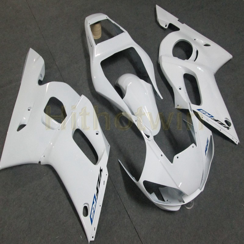 US $391 0 |Bolts+Custom white motorcycle bodywork article ABS fairing body  kit for Yamaha YZF R6 1998 1999 2000 2001 2002 YZF R6-in Full Fairing Kits