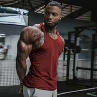 Men Gym Singlet Stringer Muscle Tank Tops Fitness Sport Shirt Y BACK Racer Workout Tops Vest