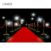 Laeacco Red Carpet Backdrops Light Stage Portrait Photography Backgrounds Customized Photographic Backdrop For Photo Studio