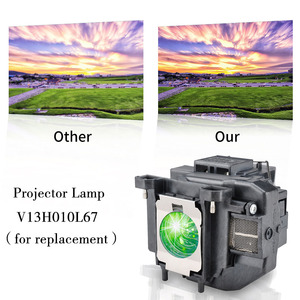 Image 2 - HAPPYBATE  Replacement projector lamp EB W16 EB W16SK EB X02 EB X11 X11H X12 X14 X15 TW480,TW550,EX3210 for ELPLP67/V13H010L67