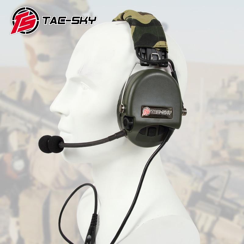 TAC-SKY TCI LIBERATOR II Silicone Earmuff Version Noise Reduction Pickup Headset-FG