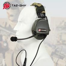 TAC SKY TCI LIBERATOR II سيليكون earmuff النسخة تخفيض الضوضاء لاقط سماعة FG