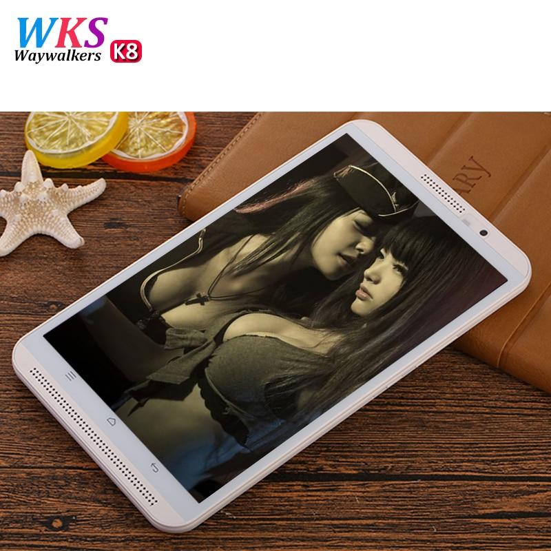 WKS font b Tablet b font Pc Octa Core 8 inch Double SIM card K8 4G