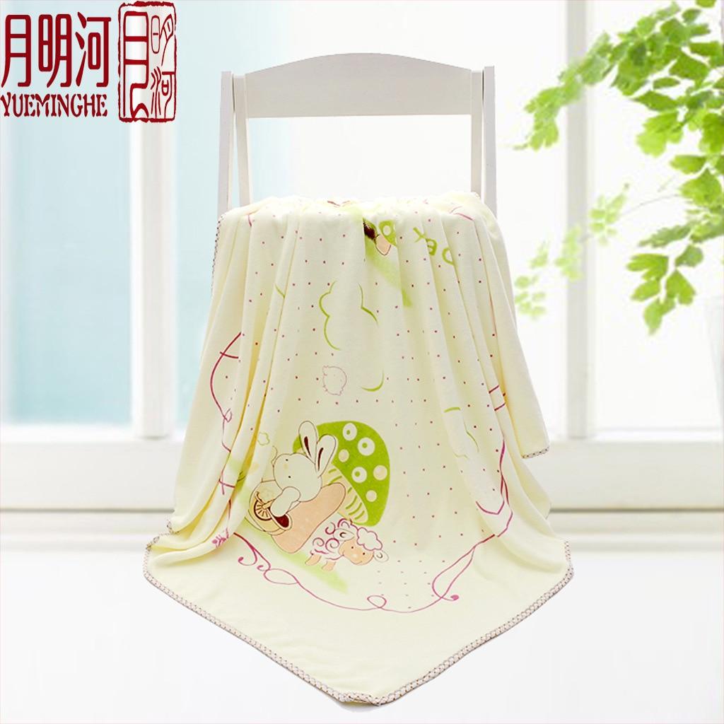 Newborn bath towel ultrafine fiber autumn and winter cartoon thick bath towel