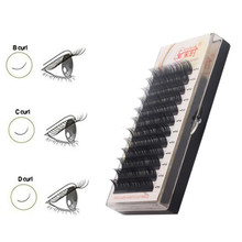 NEWCOME Synthetic Mink Eyelash Extension BCD Curl All Size Natural False Cilia 3D Volume Eye Lashes Individual Eyelash Extension