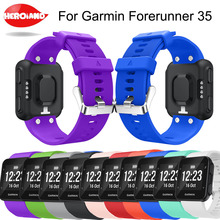 цены New 22 colours Silicone Strap Replaceable Watch band Wrist strap wristband bracelet for Garmin Forerunner 35 smart Watch band