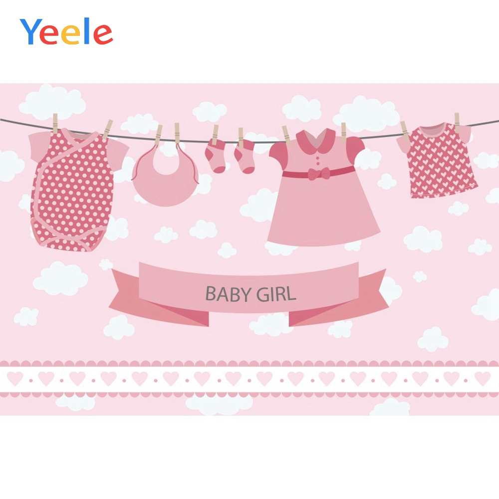 Yeele Baby Shower New Birth Photocall Cute Clothes Photography Backdrops Personalized Photographic Backgrounds For Photo Studio in Background from Consumer Electronics