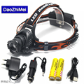 2018 The newest CREE XM-L XML L2 LED 4000 Lumens Zoomable Rechargeable LED Headlight / Headlamp CREE Light Flashlight+Battery