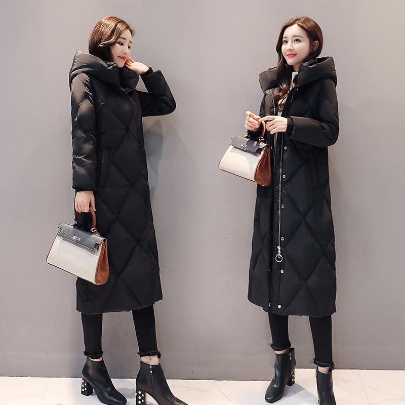 Noir Ayunsue Le Inverno Vêtements Épais Parka Bas D'hiver Coréenne Vers Veste Femelle Femmes Kj469 Feminino Casaco Manteau Black De rqEHrwvZg