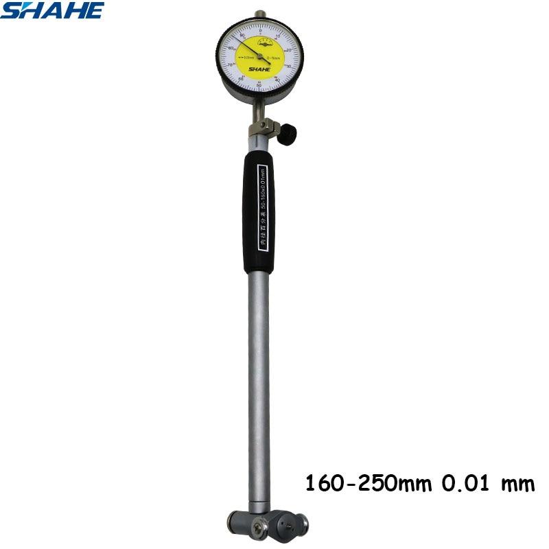 160 250 mm Dial Bore Gauge Hole Diameter Measuring gauge 0 01 mm 5306 250