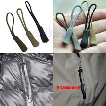 Zipper Pull Puller End Fit Rope Tag Fixer Zip Cord Tab Replacement Clip Broken Buckle Travel Bag Suitcase Clothes Tent Backpack(China)